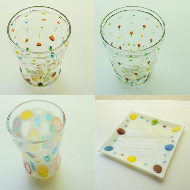 野田マリコさんのガラスの器