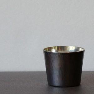錫引き銅のお猪口(ブリキや彰三)