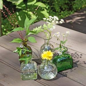 野の花子瓶(ガラス工房 橙)