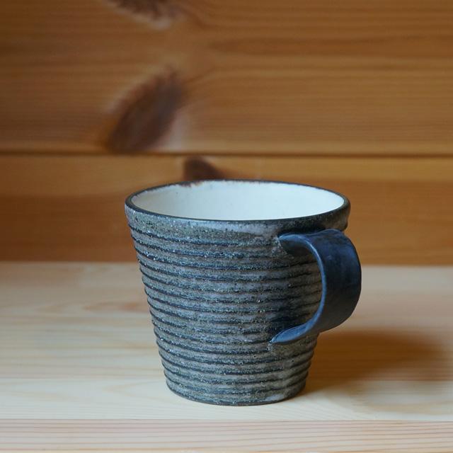 炭化ボーダーマグカップ 全ボーダー(沖誠)