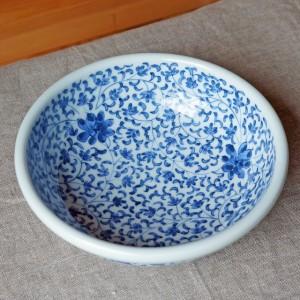 菊唐草の鉢(陽貴窯)