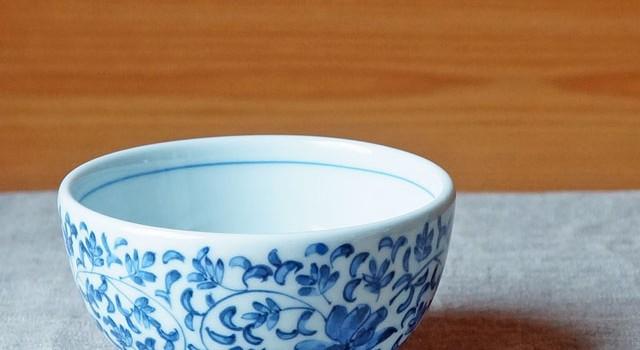 陽貴窯さんの菊唐草のかわいい小鉢