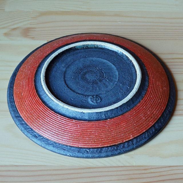 赤5寸皿(沖誠)