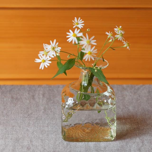 野の花小瓶(ガラス工房 橙)