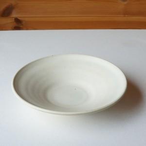 6寸皿 白(関太一郎)