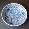 8寸 玉縁鉢 菊唐草(陽貴窯)