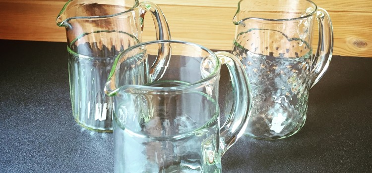 くるみガラスのジャグ3種類