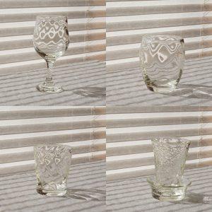 海馬ガラス工房 白瑠璃グラス