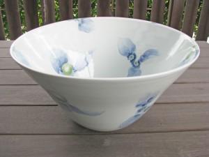 梅乃瀬窯 柿柄の手洗い鉢