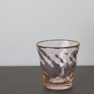 桜色十一方流れ酒器(海馬 ガラス工房)