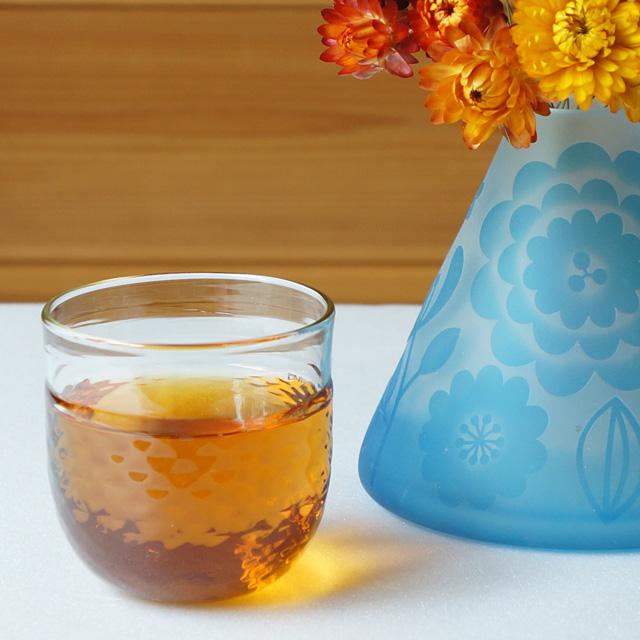 くるみ丸グラス ダイヤ模様(橙)