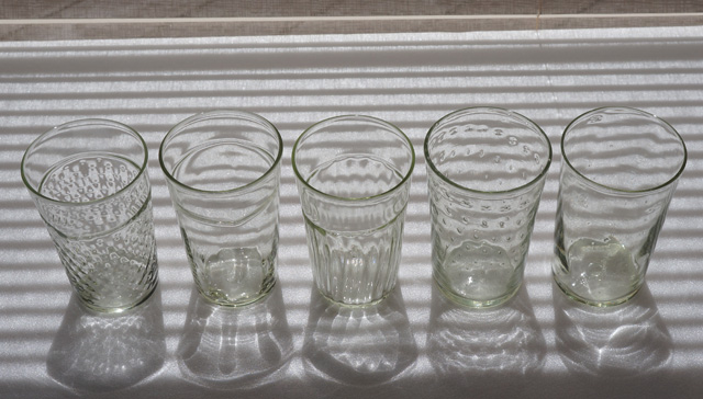 くるみガラスのタンブラー