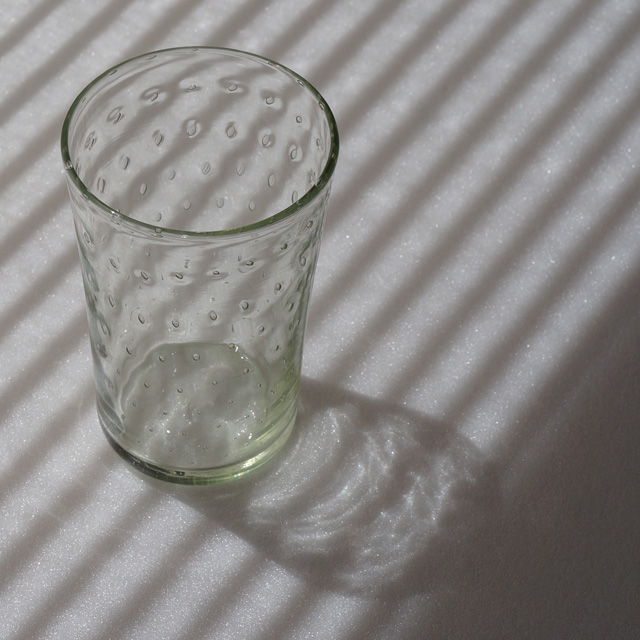 くるみガラス タンブラー 泡模様(橙)
