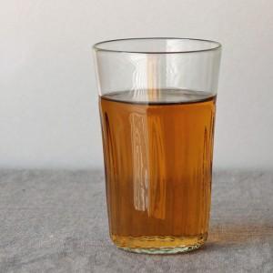 くるみガラス タンブラー細モール(橙)