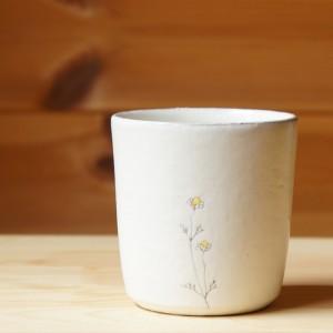 カモミール柄フリーカップ(清水なつ子)