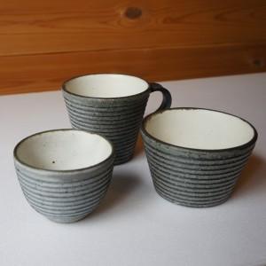 沖誠さんのマグカップ、湯呑み、そば猪口(大)
