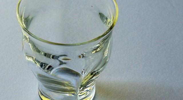 白瑠璃ガラス 四方屈タンブラー(海馬ガラス工房)