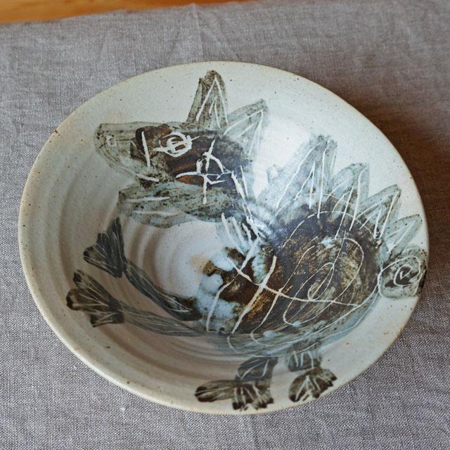 怪獣絵柄鉢(ロイ・マーティン)