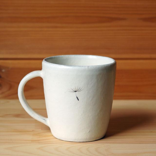 マグカップ タンポポ綿毛柄(清水なつ子)