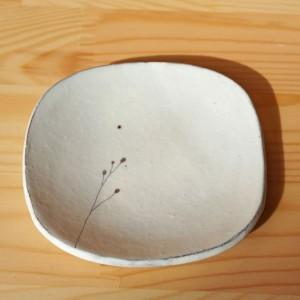 豆皿 ワレモコウ柄(清水なつ子)