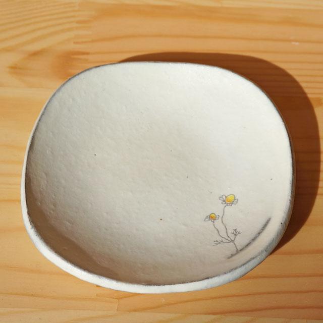 豆皿 カモミール柄(清水なつ子)
