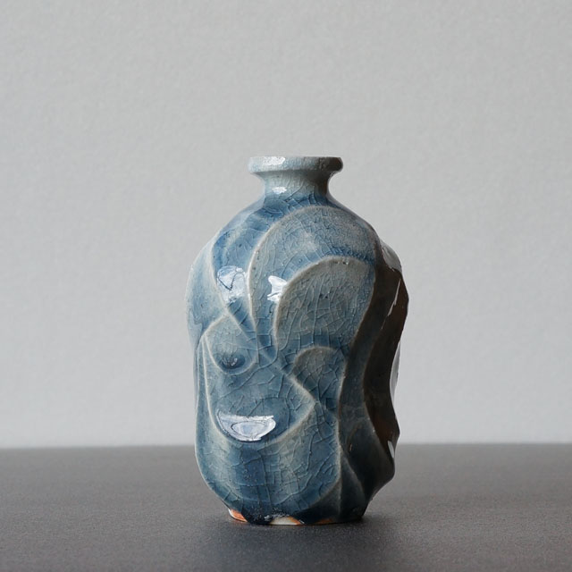 彫紋 徳利 青(マシュー・ソヴヤニ)