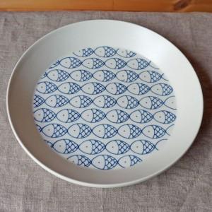 丸皿 さかな柄(すこし屋 松田窯)