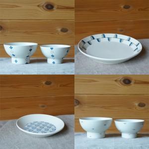 飯碗と皿(すこし屋 松田窯)