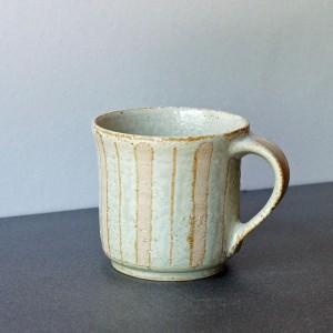 筒マグカップ アカシア灰釉(陶房 風遊舎)