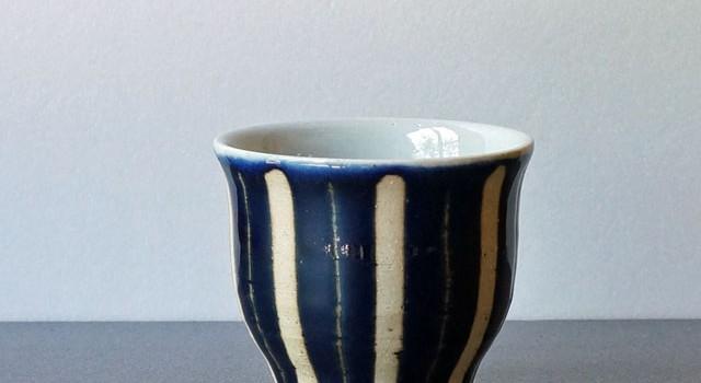 瑠璃色が美しいフリーカップ