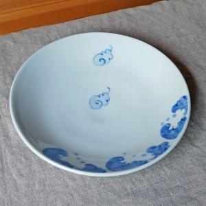 6寸皿 雲(陽貴窯)