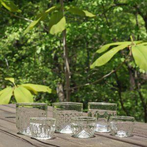 くるみガラスのminiグラス
