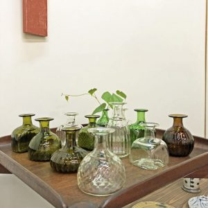 野の花小瓶(ガラス工房橙)