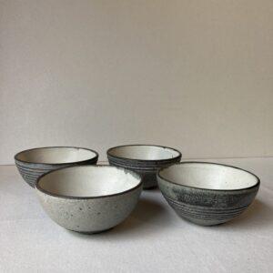 炭化ボーダー飯碗(沖誠)